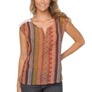 PrAna Organic Cotton & Silk Iliana crocheted